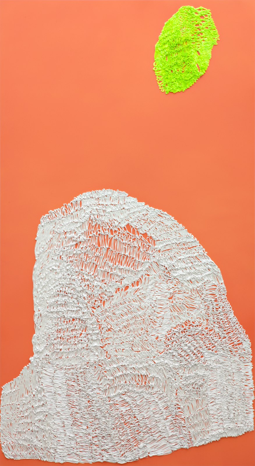 Handmade # 4, 2011-2012, acrylic on alucore, 220 x 120 cm