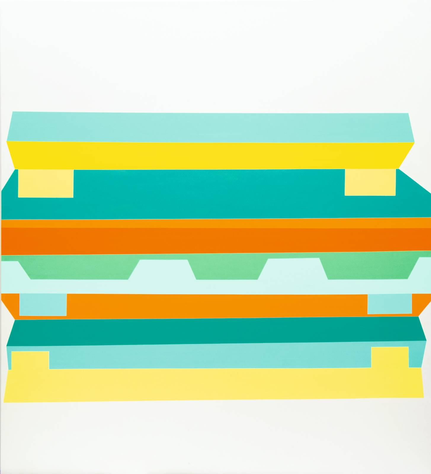 Panorama/The Second Generation, No.07, 2011/12, acrylic on canvas, 265 x 245 cm