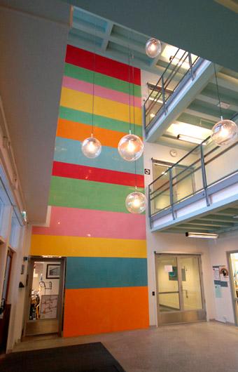 Commissioned work, Lollipop, 2009, marmorino, Marienlyst skole, Oslo, Norway, 2009