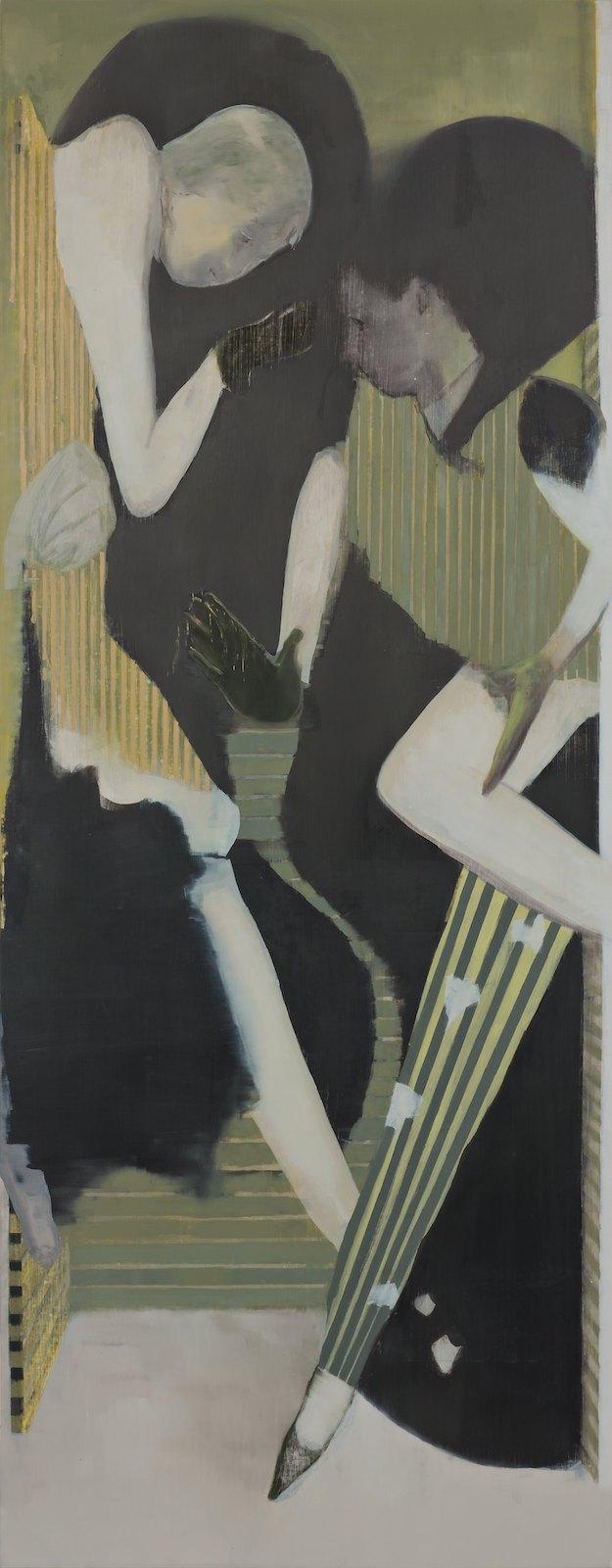 The Hazardous Paces, 2012, oil on canvas over panel , 242 x 95 cm