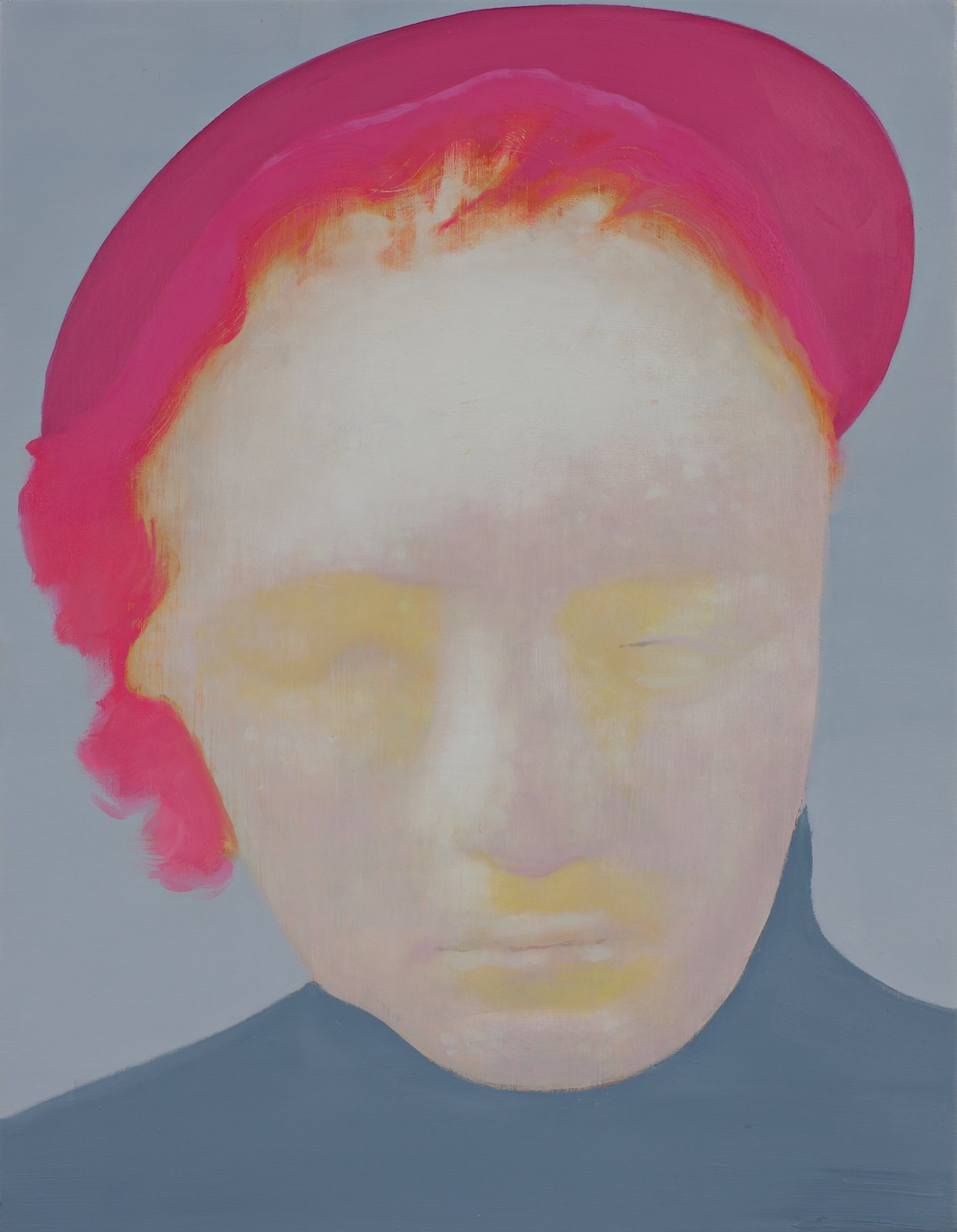 The Bungler (Pink), 2012, oil on polyester canvas over panel, 28,5 x 21,5 cm