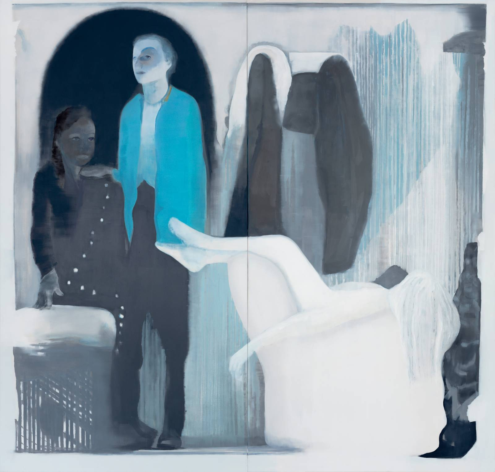 The Chalk Blurbs, 2012, oil on canvas over panel, 231 x 241 cm (two panels)