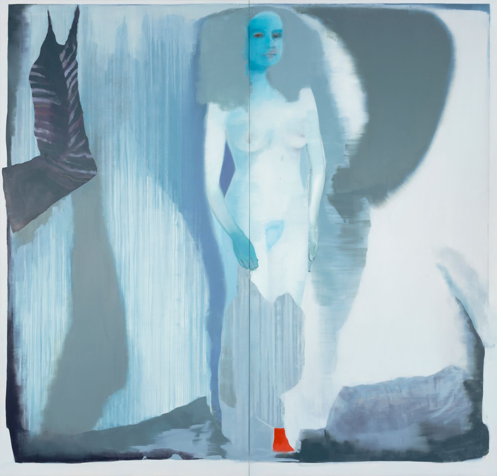 The Deterring Heart, 2012, oil on canvas over panel, 231 x 241 cm (two panels)