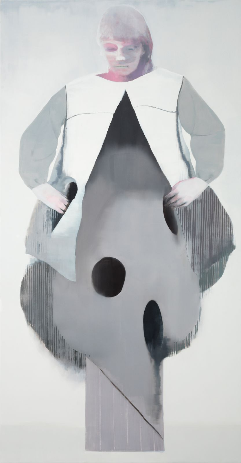 Mole Fingers, 2012, oil on canvas over panel, 231 x 120,5 cm