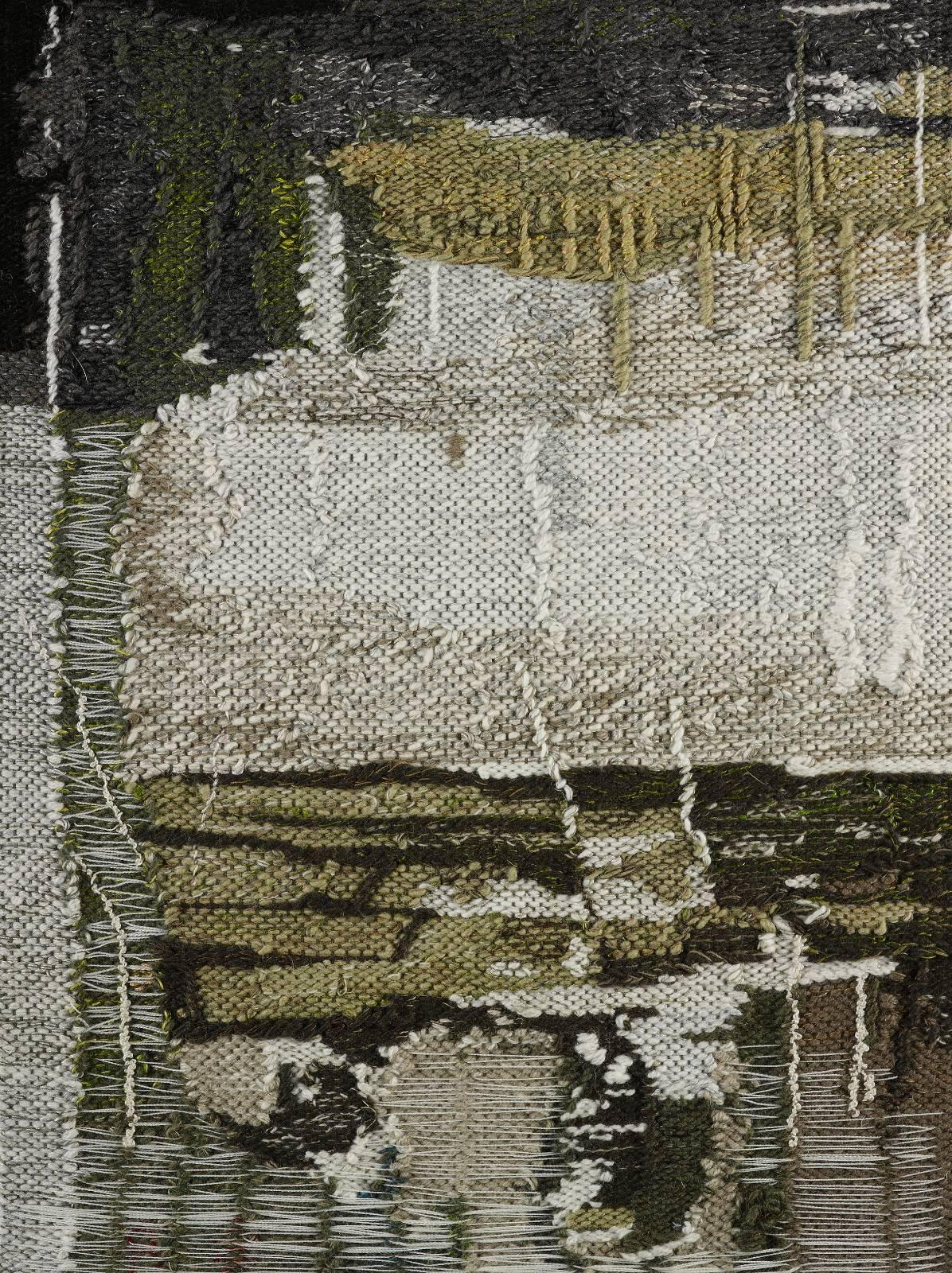 Untitled, 2012, cotton warp, wool thread, plywood, 60 x 44 cm