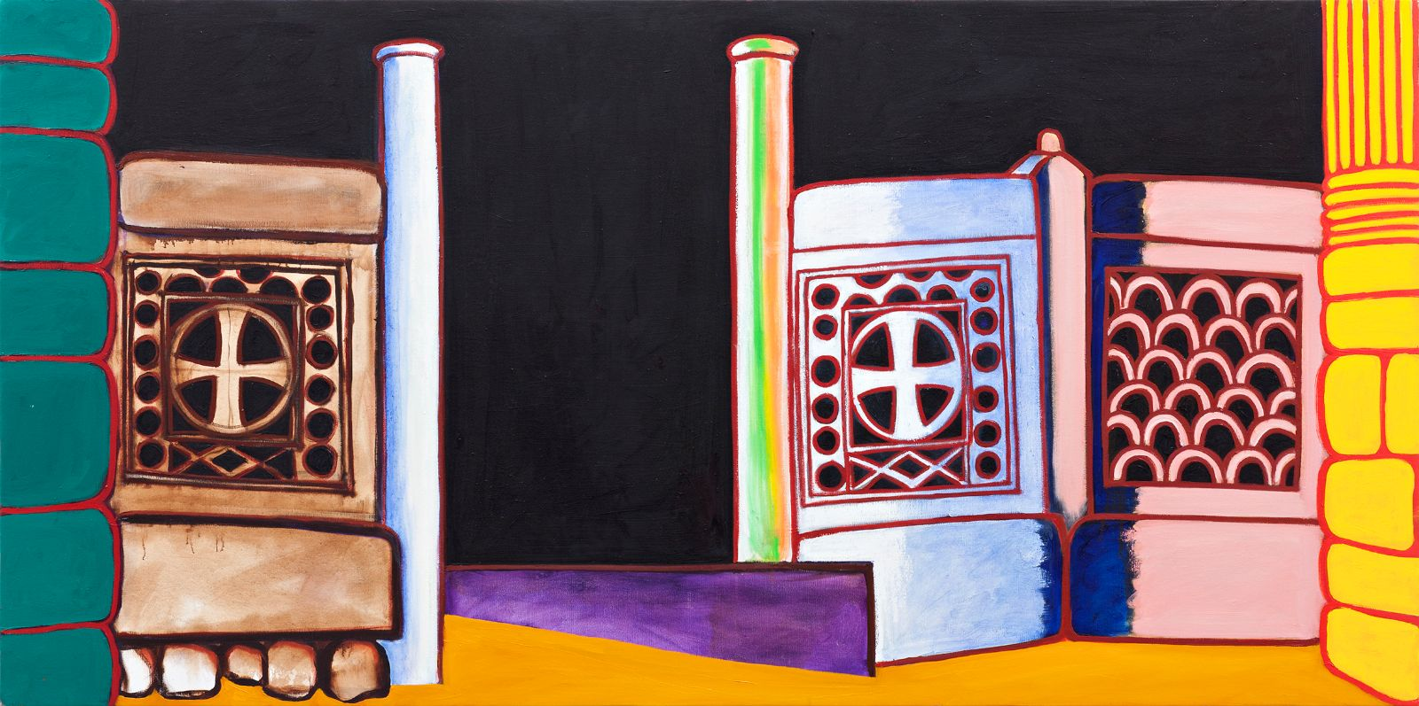 Olympia 4, 2012-2013, oil on canvas, 104 x 208 cm