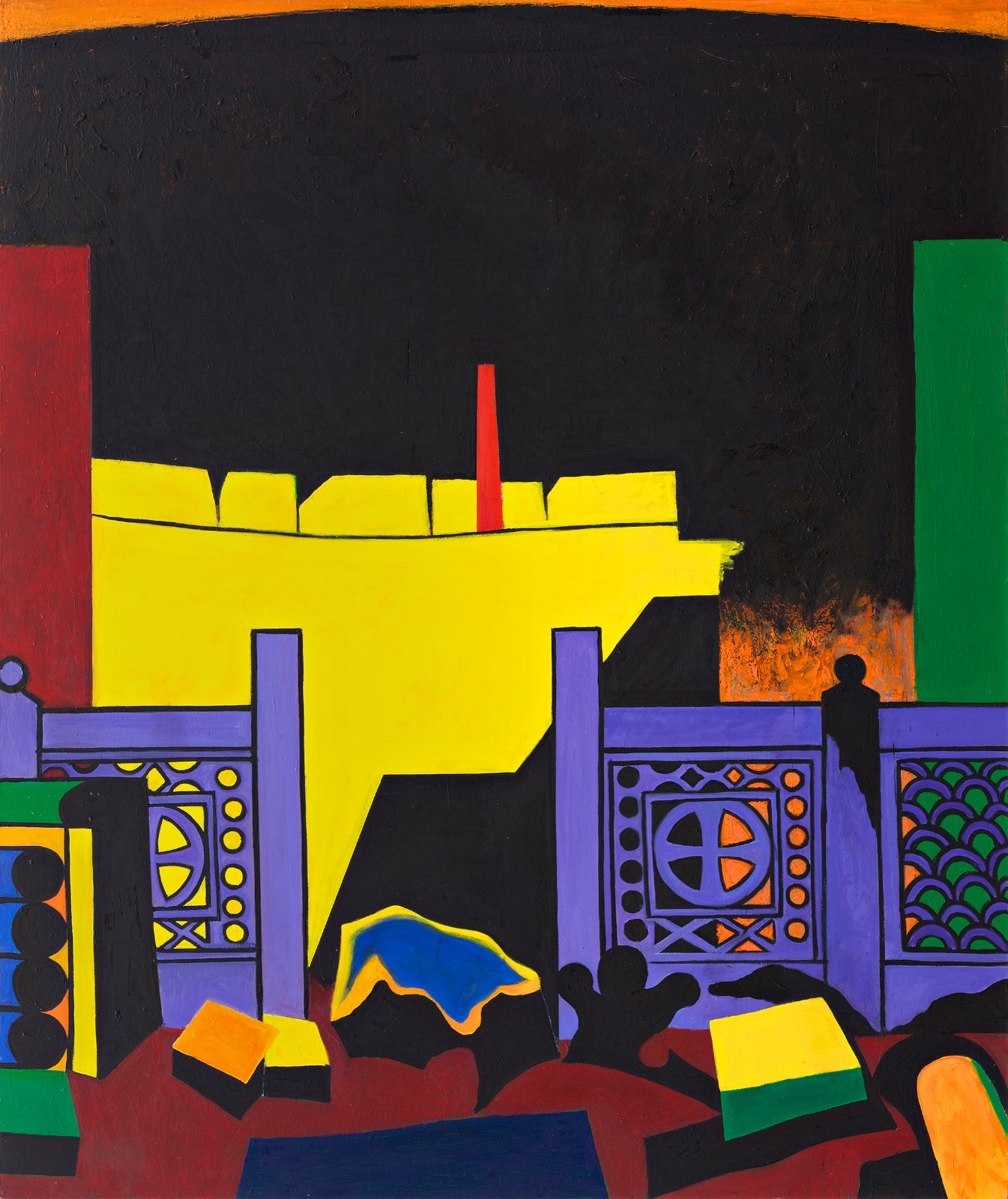 Olympia 2, 2012-2013, oil on canvas, 210 x 175 cm