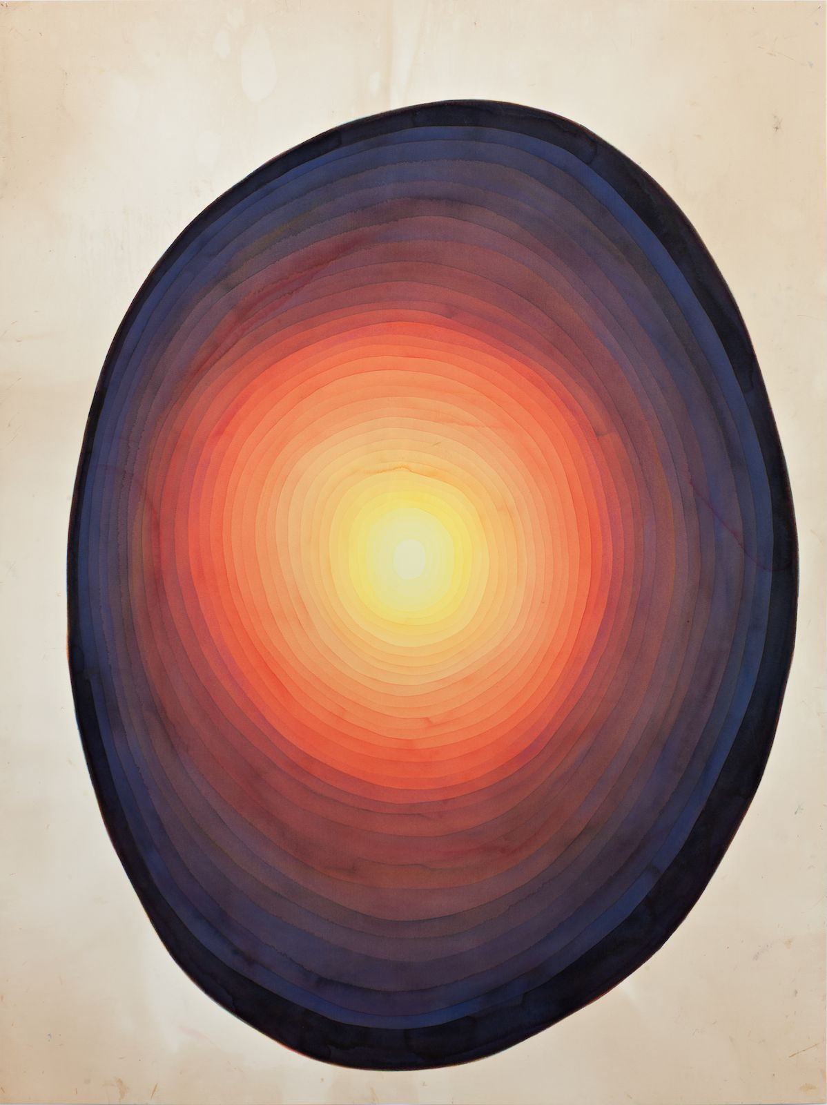 All, Allt, Alles, 2013, watercolor on paper, 190 x 142 cm