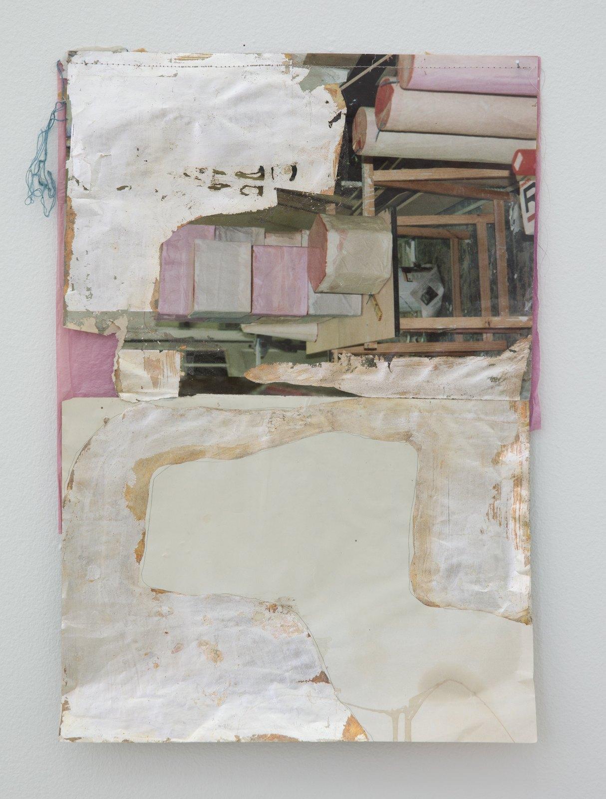 Bonfire burns, 2014, offset print, silver, sewing and tissuepaper, 54 x 40,5 cm