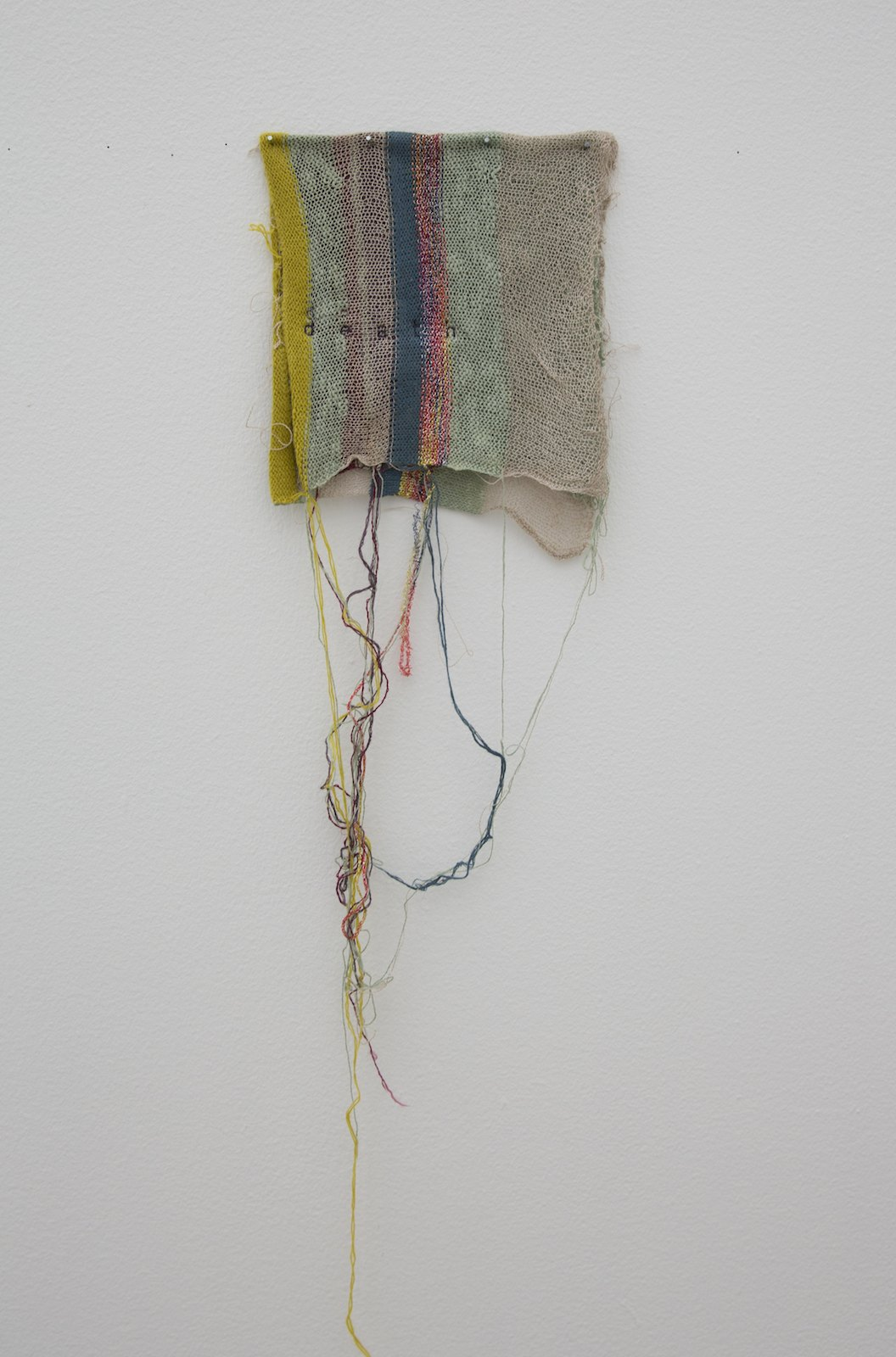 Death, 2014, knitting and embroidery, 79 x 23 cm