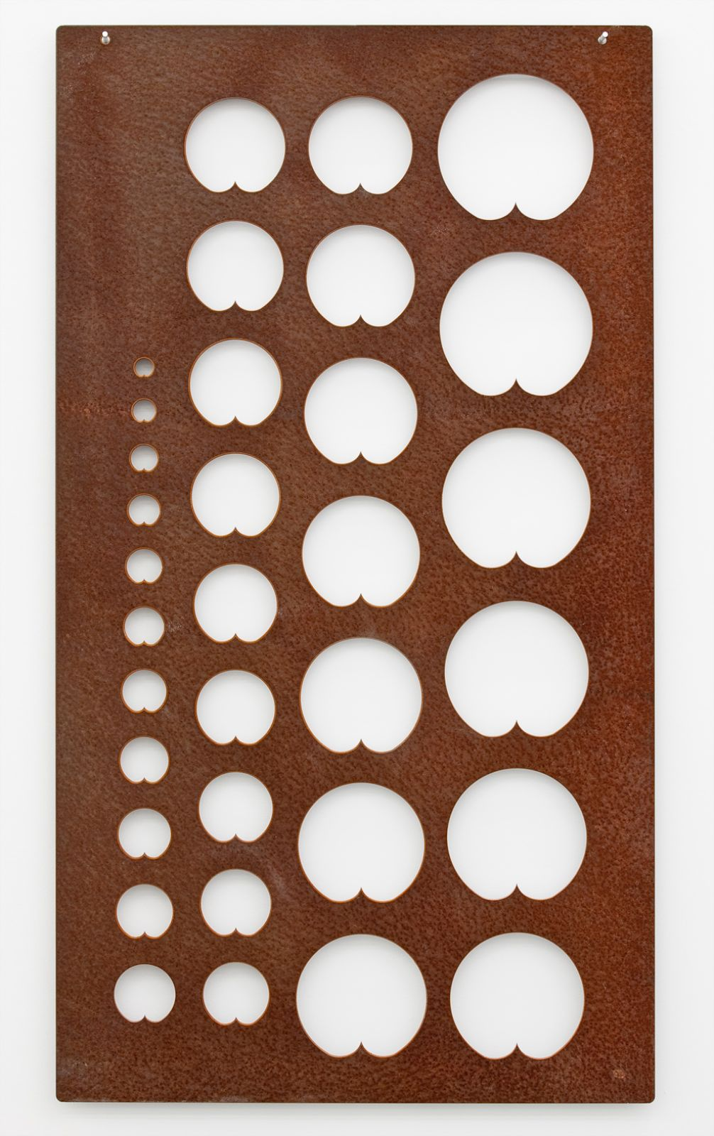 Scratch, 2010, steel, 109 x 60 x 0,3 cm