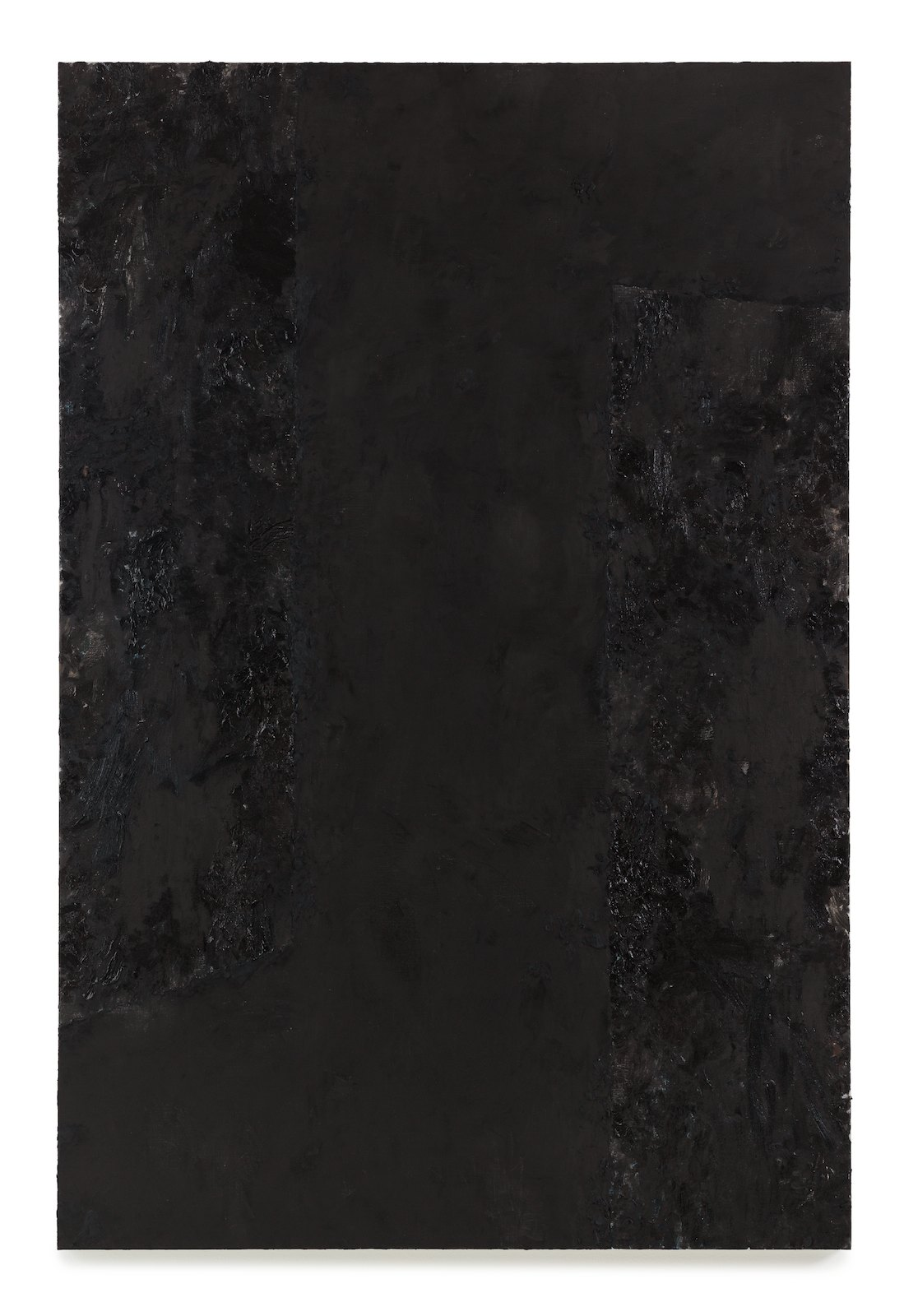 Viktor Kopp, Two Corners Black, 2014, oil on canvas, 183 x 122 cm