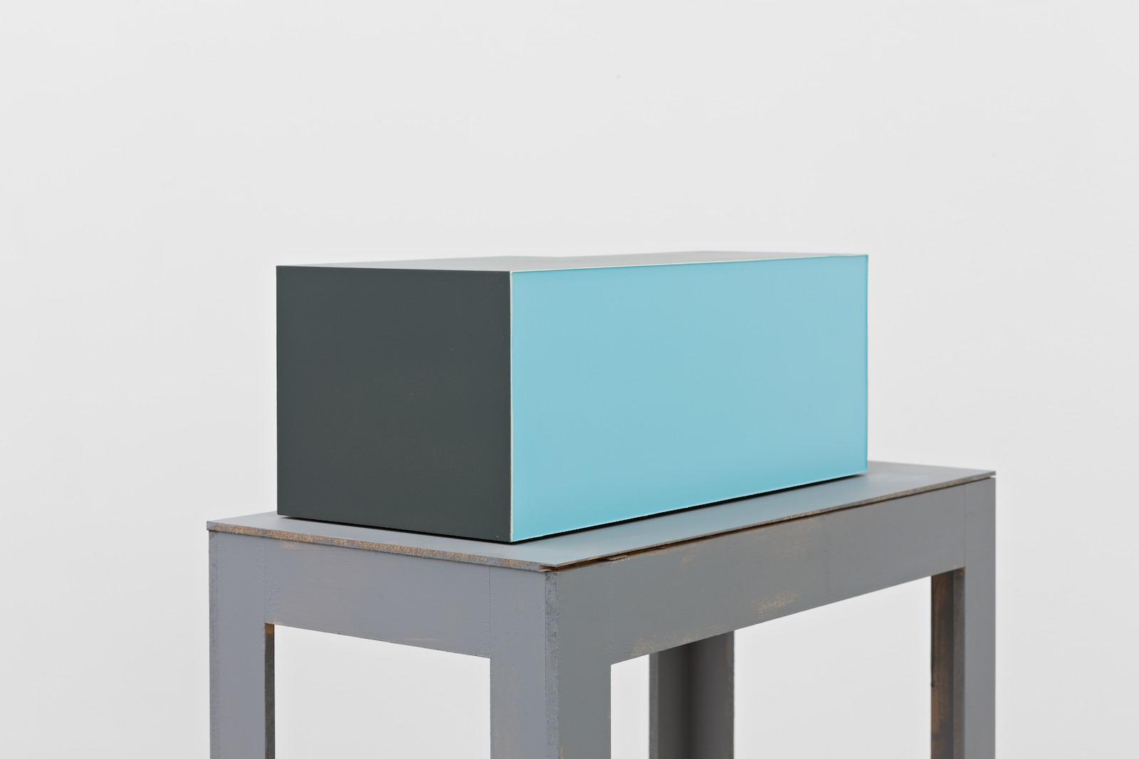 Chosement VI, 2014, acrylic on MDF, 16,4 x 42 x 19,6