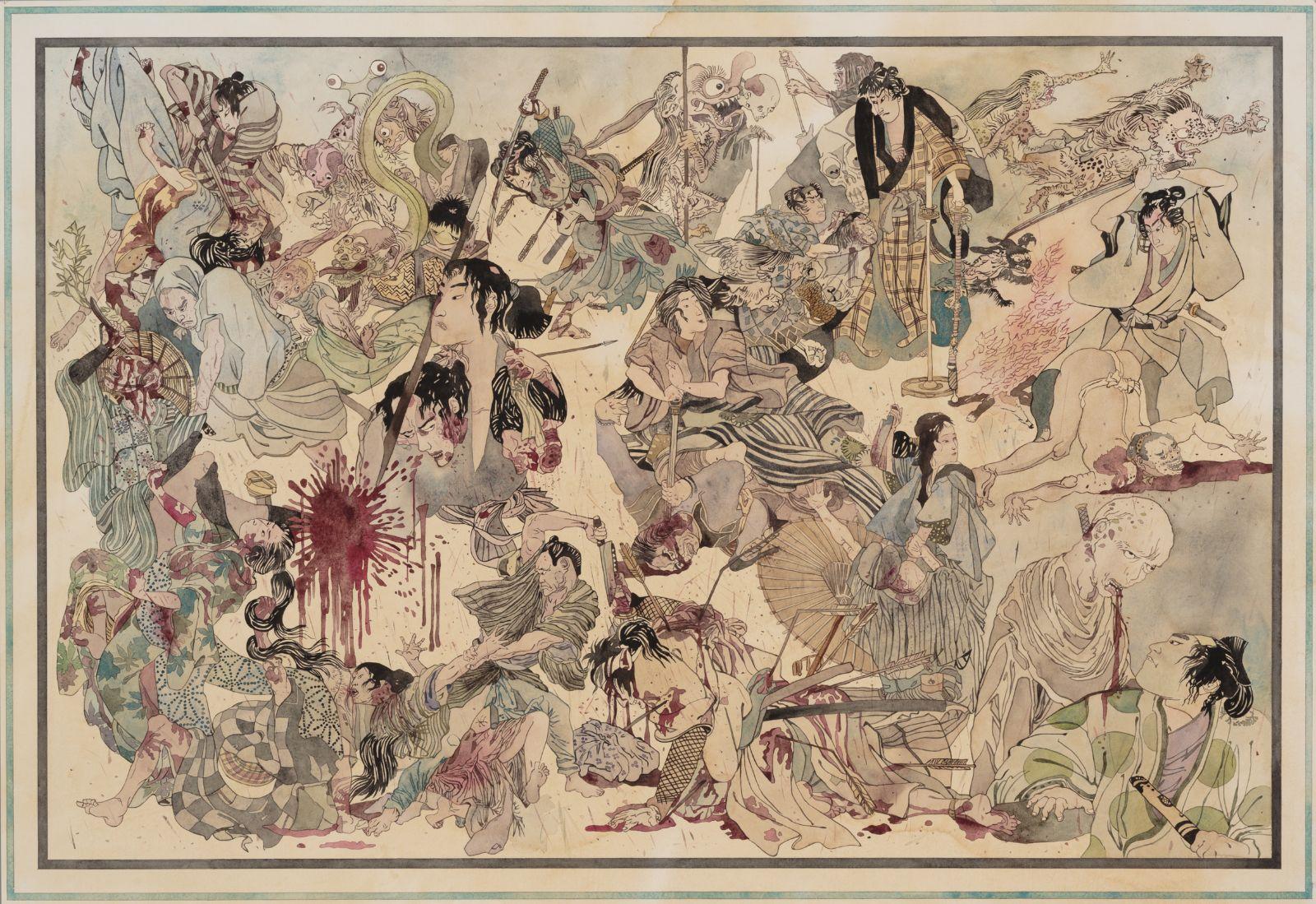 Kshatriya, 2014, watercolour paper, 67 x 98 cm