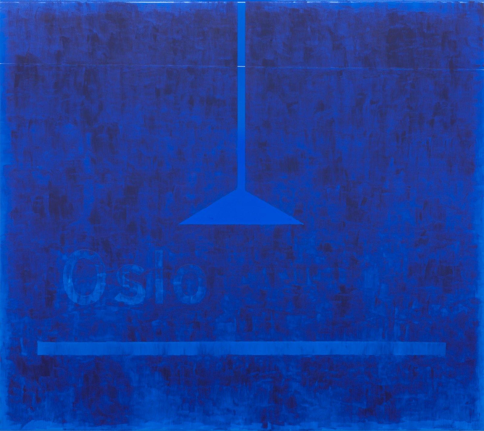 Oslo # 6, 2014, vinyl and acrylic on aluminum, 145 x 161 x 3,5 cm