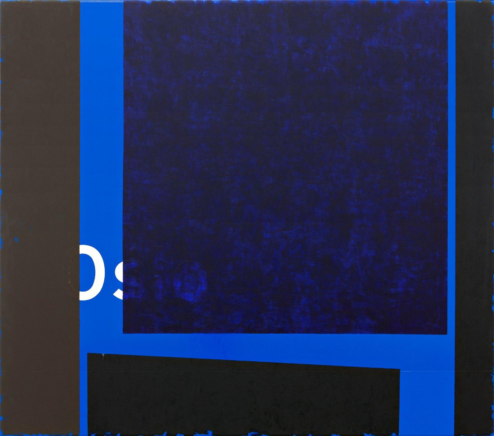 Oslo # 4, 2013, vinyl and acrylic on aluminum, 145 x 161 x 3,5 cm