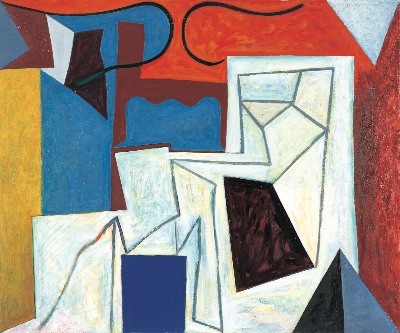 Summa summarum, 1998-99, oil and acrylic on canvas, 150 x 180 cm