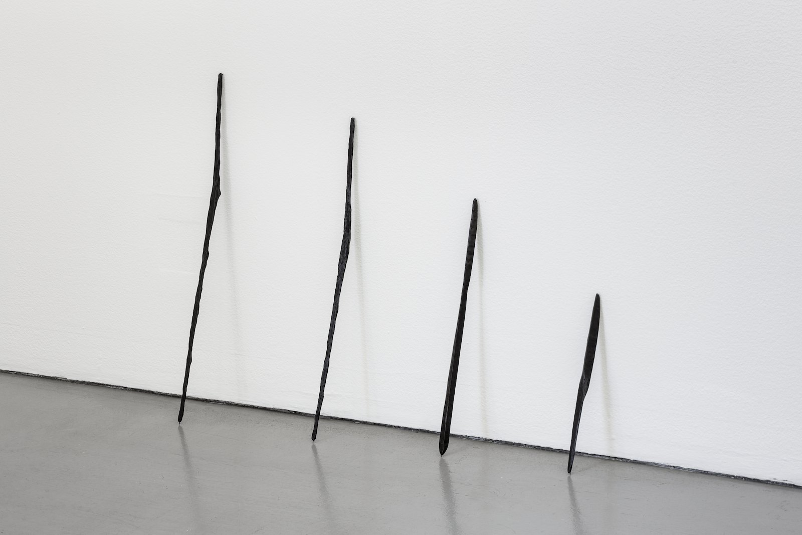 Jan Groth, Skulptur V, 1991, bronze, 63,5 cm, Ed. 6. Skulptur II, 1991, Bronze, 56,5 cm, Ed. 6. Sculpture IX 95, 1995, Bronze, 45 cm, Ed. 6. Sculpture XVII 95, 1995, Bronze, 31 cm, Ed. 6