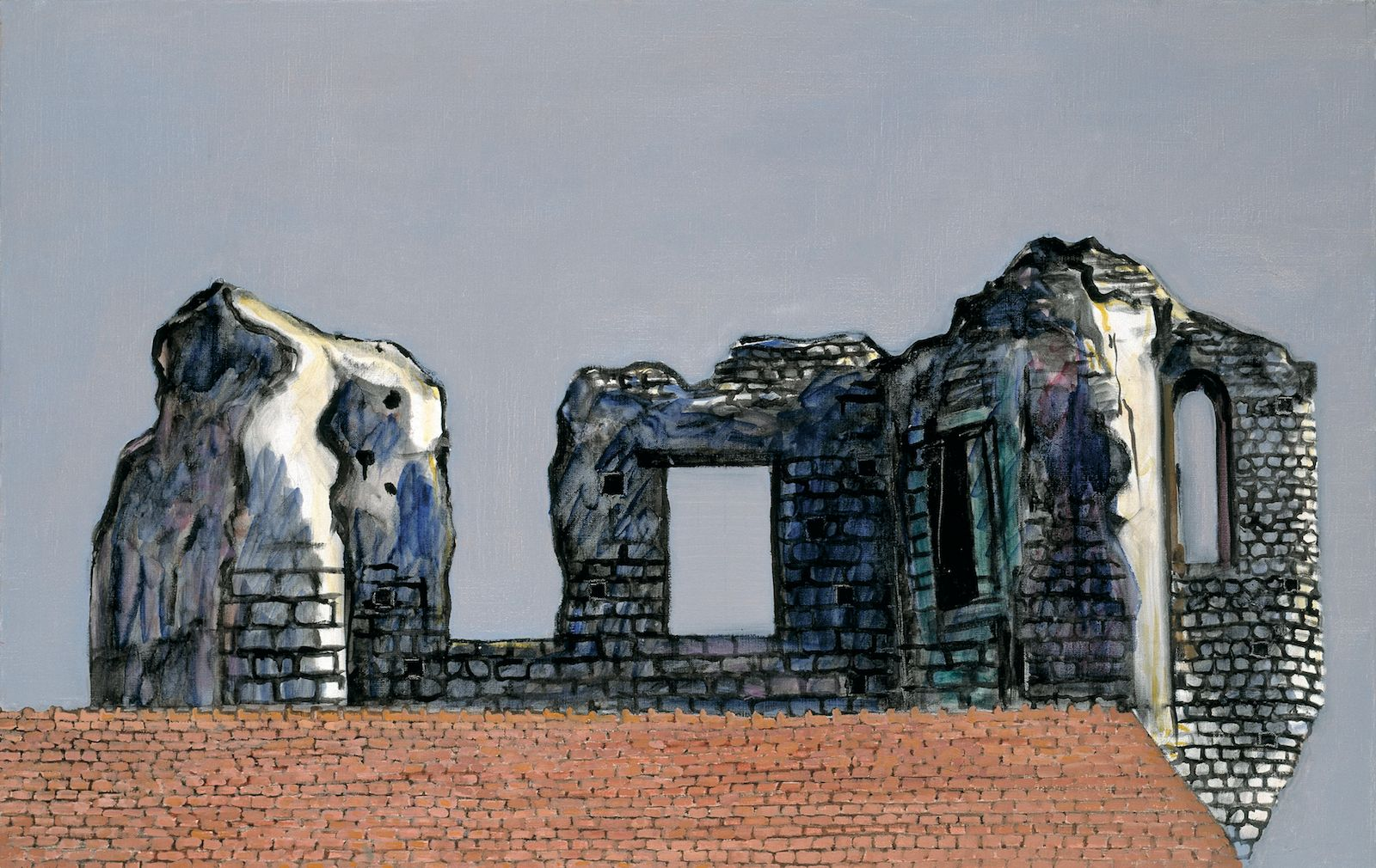 French Ruin I, 2003, oil in canvas, 72.5 x 116 cm