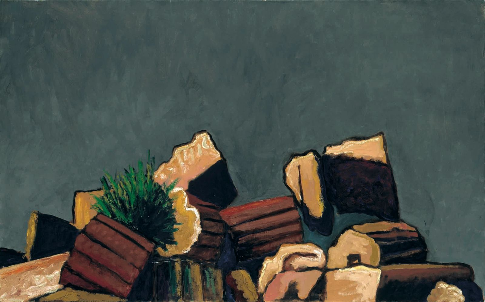 Greek Ruin I, 2004, oil on canvas, 81 x 130 cm