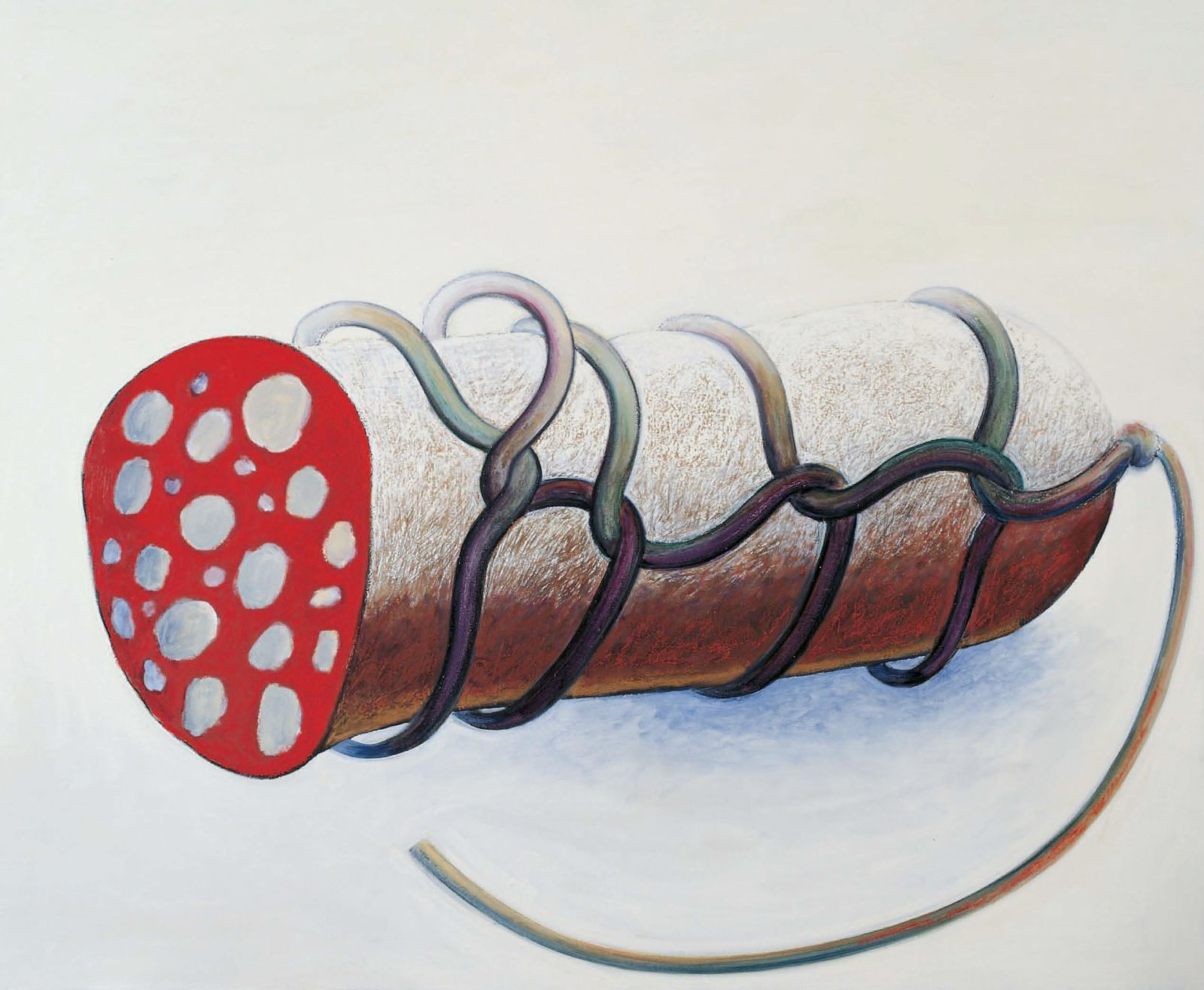 Large White Sausage, 2002, oil on canvas, 120 x 144 cm