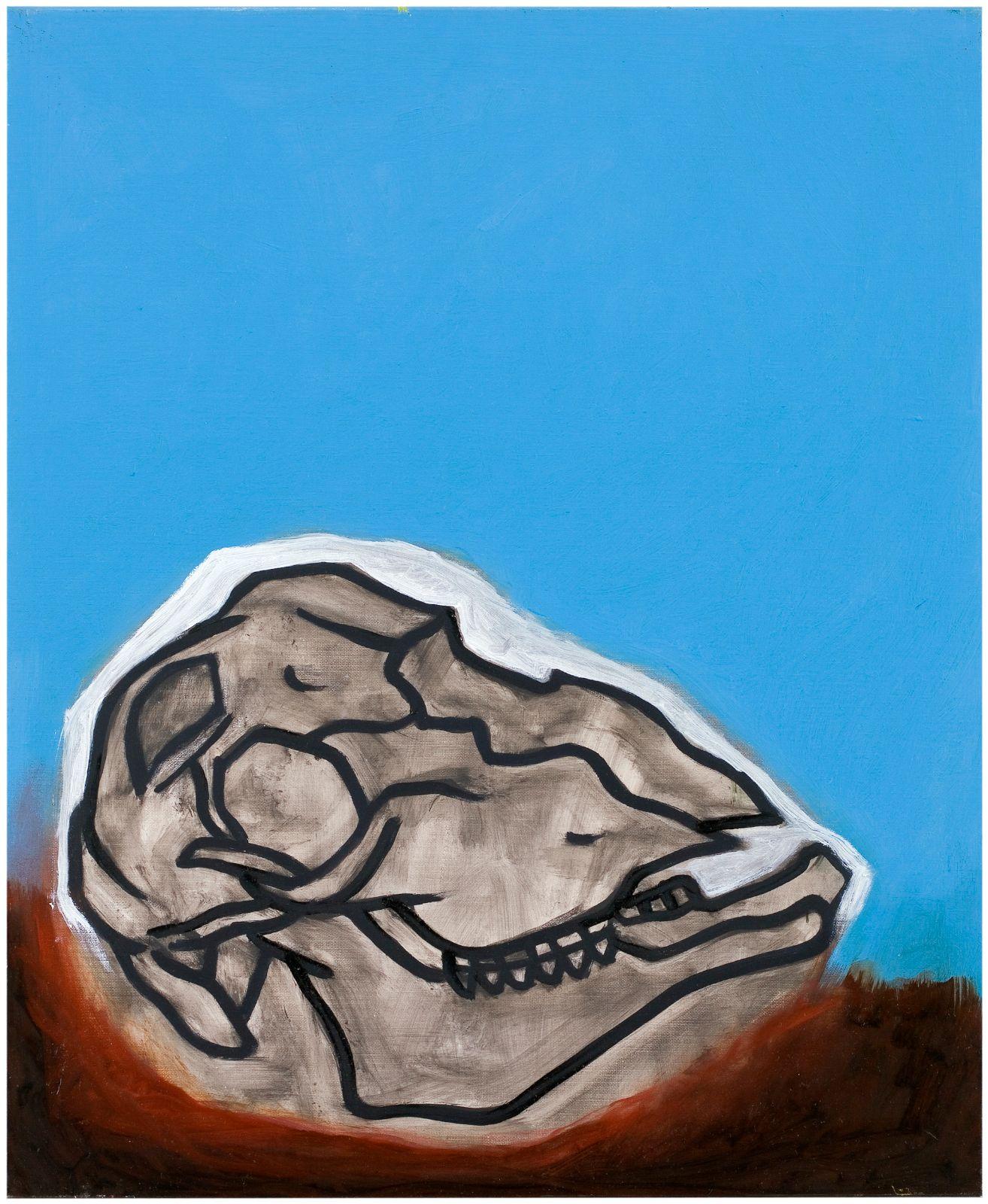 Fårskalle, 2008, oil on canvas, 73 x 60 cm