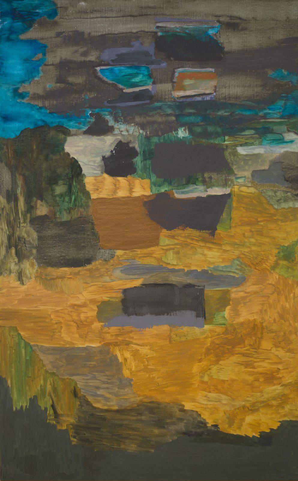 Meander VI, 2015, oil on canvas, 200 x 125 cm