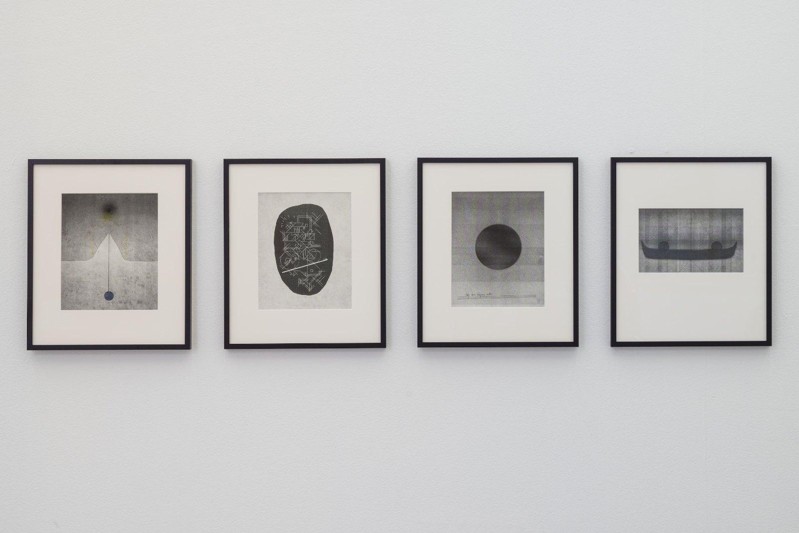 From left: Andreas Nilsson, Pioneertown, Kalifornien, 2015, risograph print, 15 x 24 cm. Paperboy, 2015, risograph print, 21 x 27 cm. Tarfala, 2015. Risograph print, 21 x 27 cm. William blakes kanot, 2015, Risograph print, 21 x 27 cm