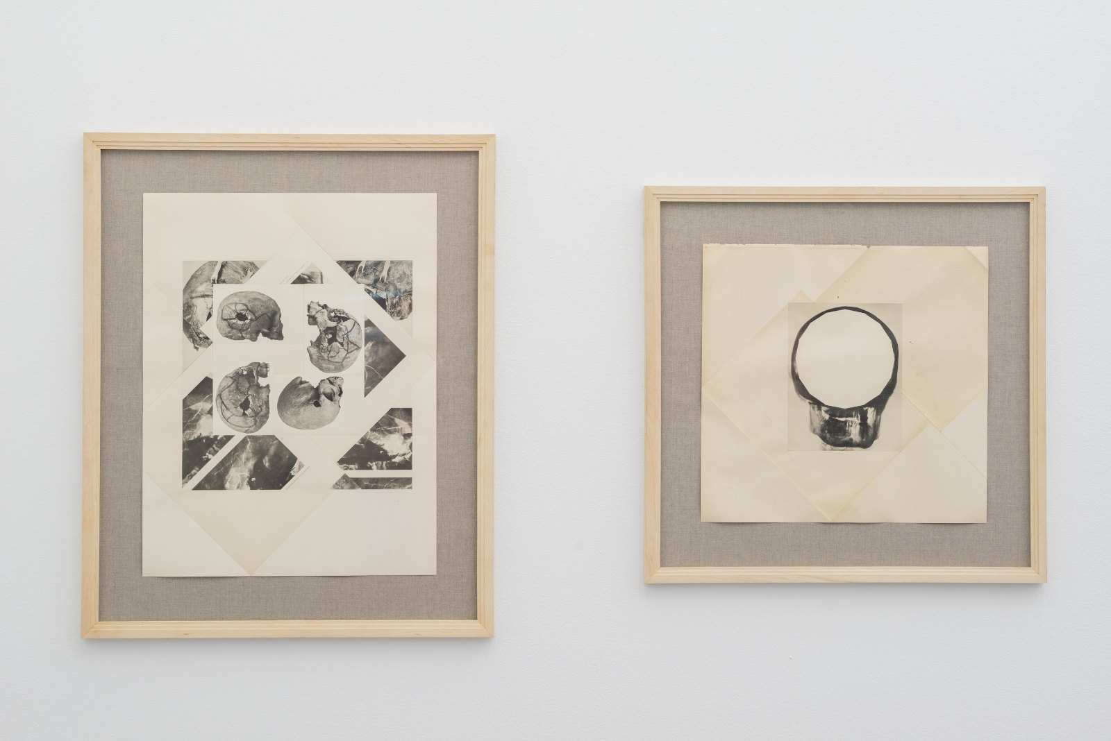 Daniel Andersson, Untitled, 2010-2011, collage on linen, 84 x 68,5 cm. Untitled, 2010-2011, collage on linen, 67 x 68 cm