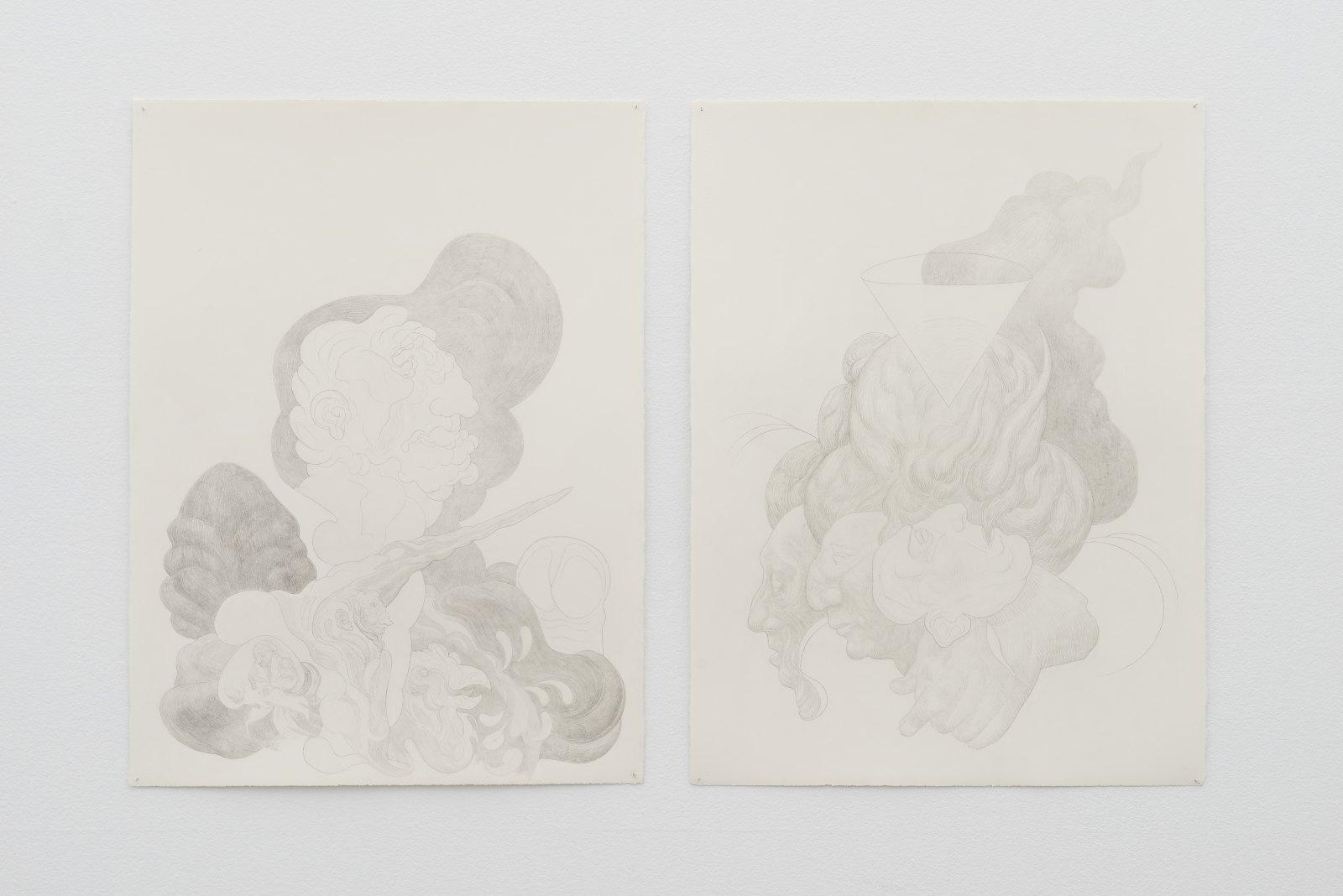 Andreas Kalliaridis, Untitled, 2015, pencil on paper, 56 x 76 cm. Untitled, 2015, pencil on paper, 56 x 76 cm