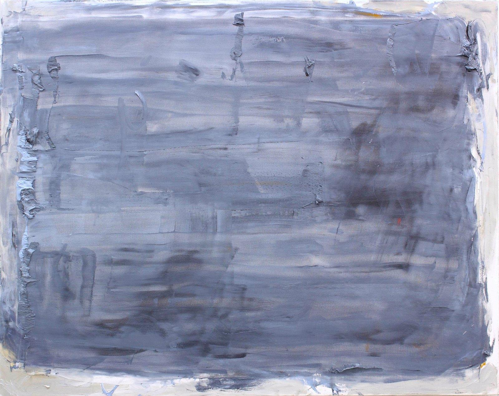 Niclas Randau, The Reading Light (blue ochre), 2014, oil on canvas, 117 x 146 cm