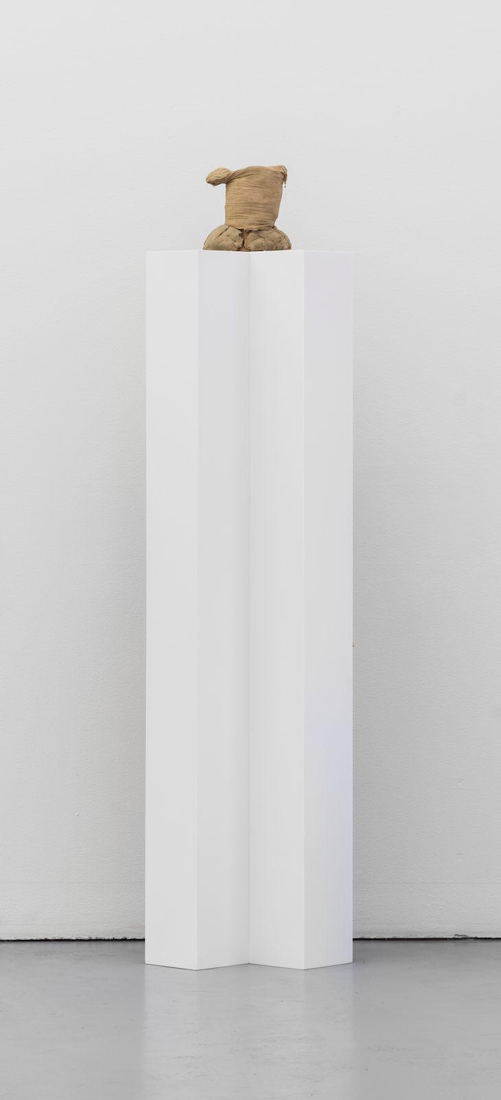 Facade shelf, 2015, composite material, steel, mixed media, 204 x 53 x 41 cm