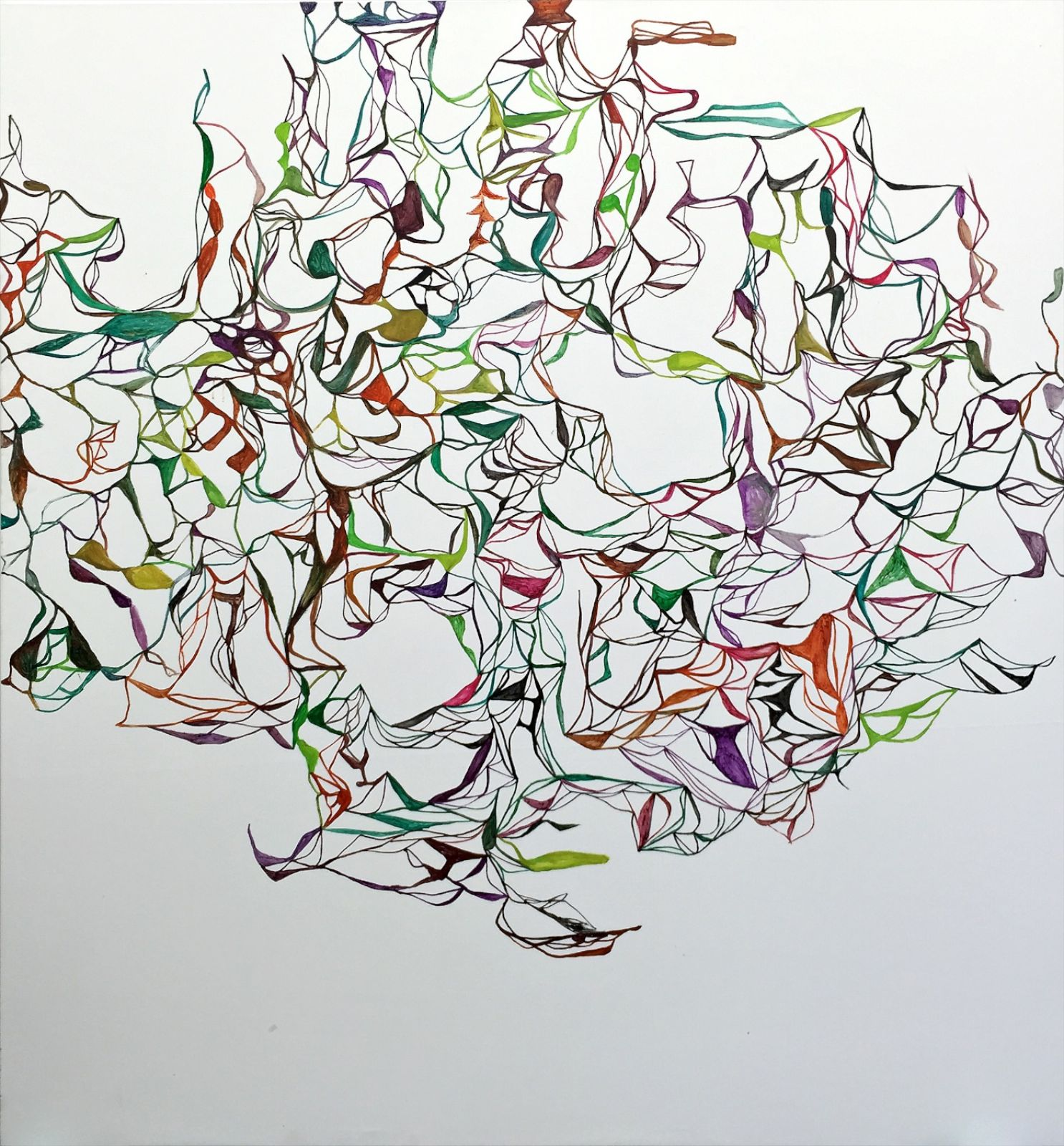 The Colibri Paintings No. 04, 2015, oil on canvas, 203 x 189 cm
