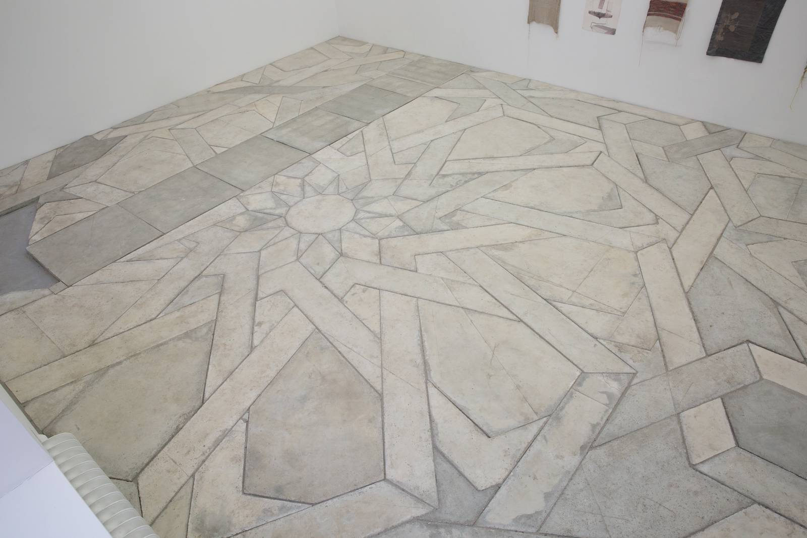 Concrete floor, 2014, cast concrete elements and sand, dimensions variable