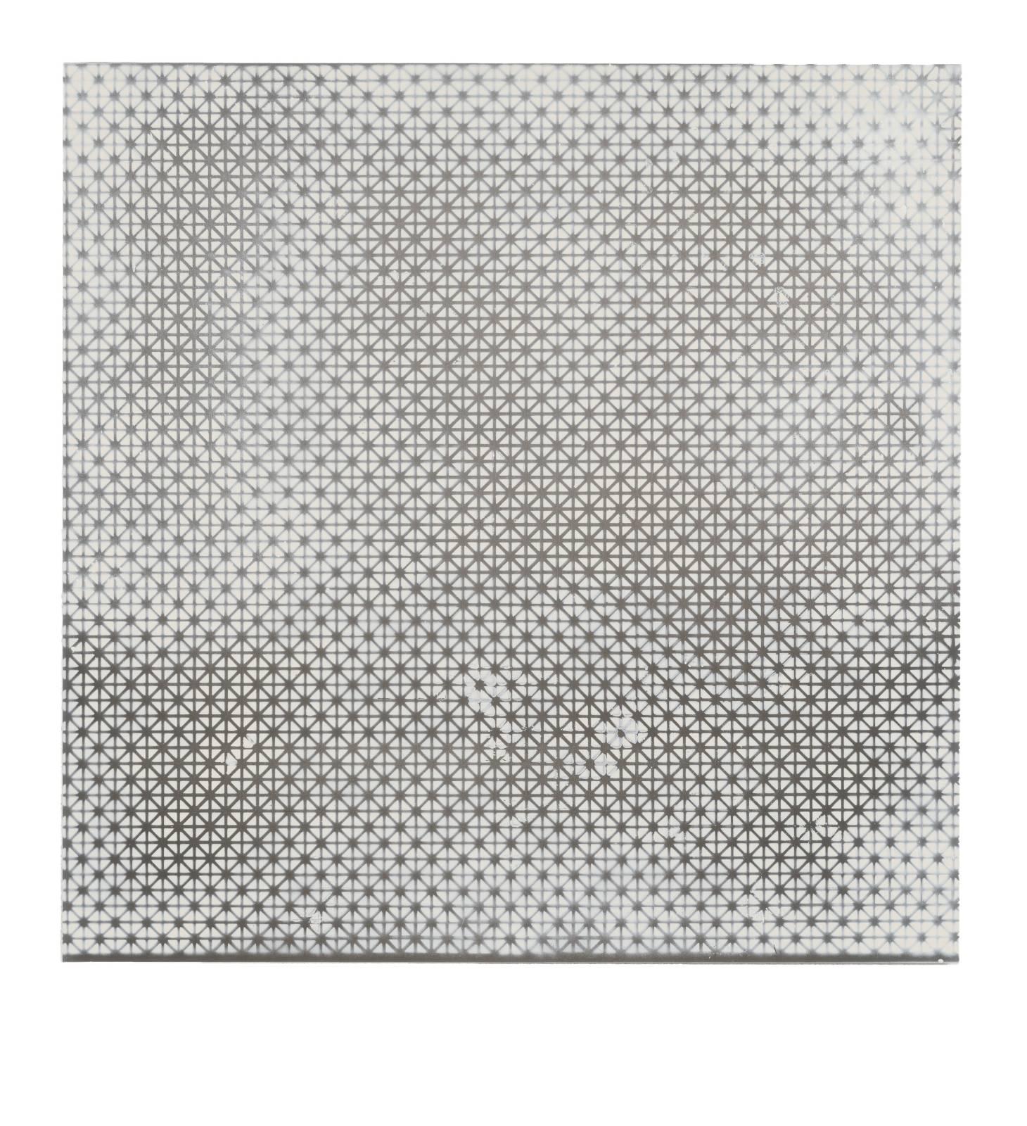 STAIN : 40.711679, -73.935740, 2015, spraypaint on aluminium, 81,3 x 81,3 cm