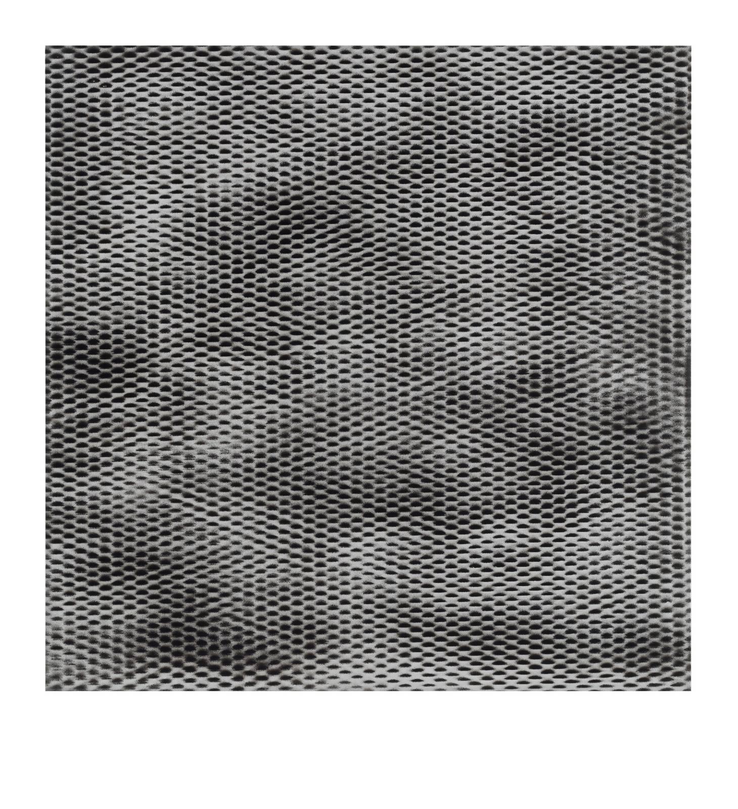 "STAIN 55°36'56.3""N 13°01'17.5""E, 2016, spraypaint on aluminium, 81,3 x 81,3 cm"