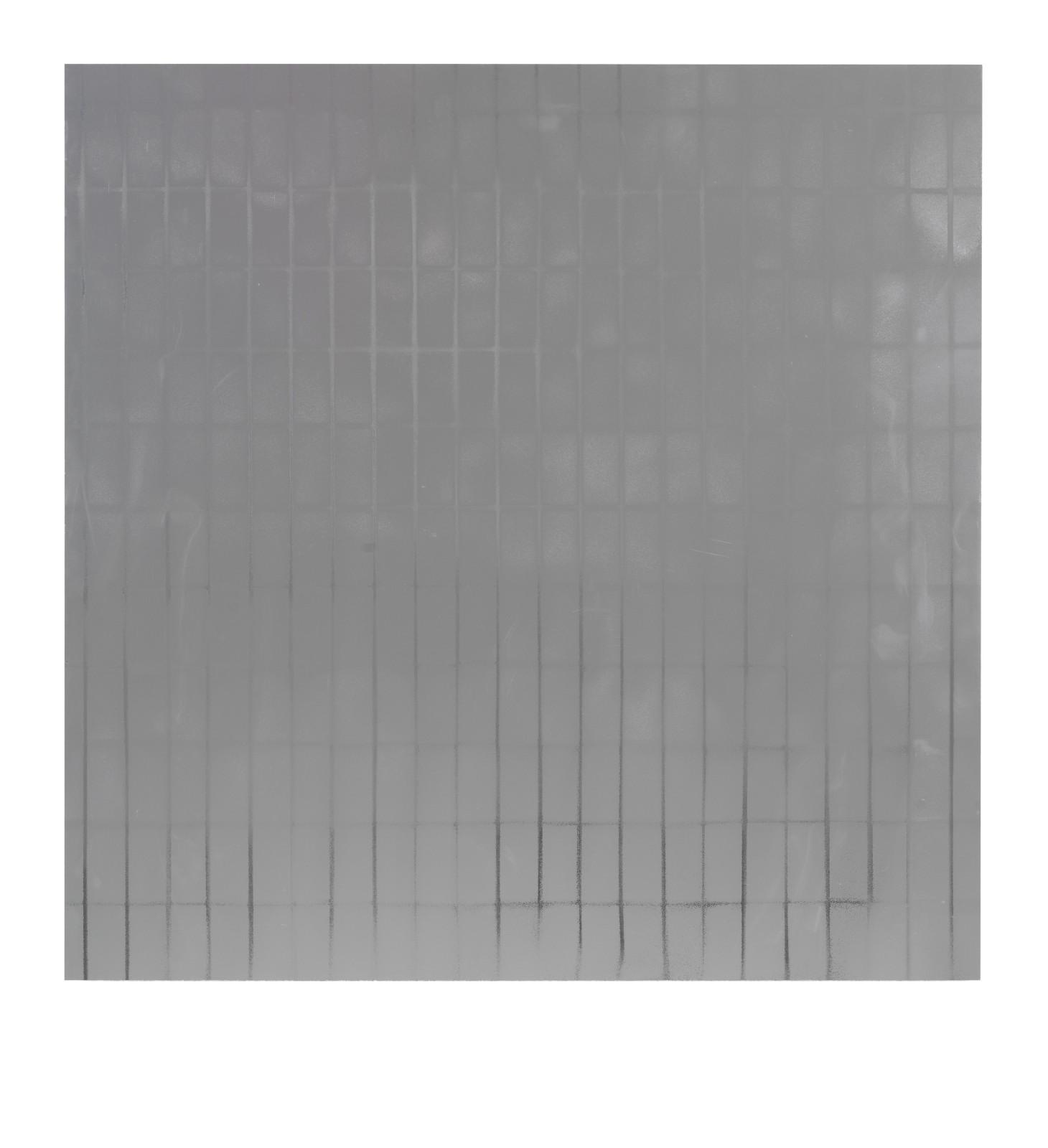 "STAIN : 55°36'32.2""N 13°00'44.9""E, 2016, spraypaint on aluminium, 81,3 x 81,3 cm"