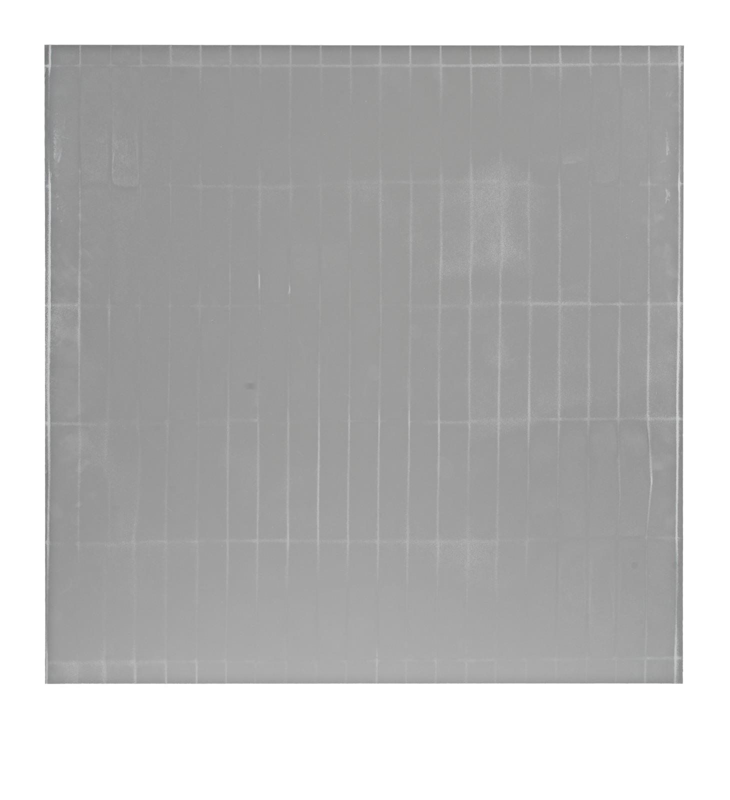 "STAIN : 55°36'49.5""N 13°01'34.9""E, 2016, spraypaint on aluminium, 81,3 x 81,3 cm"