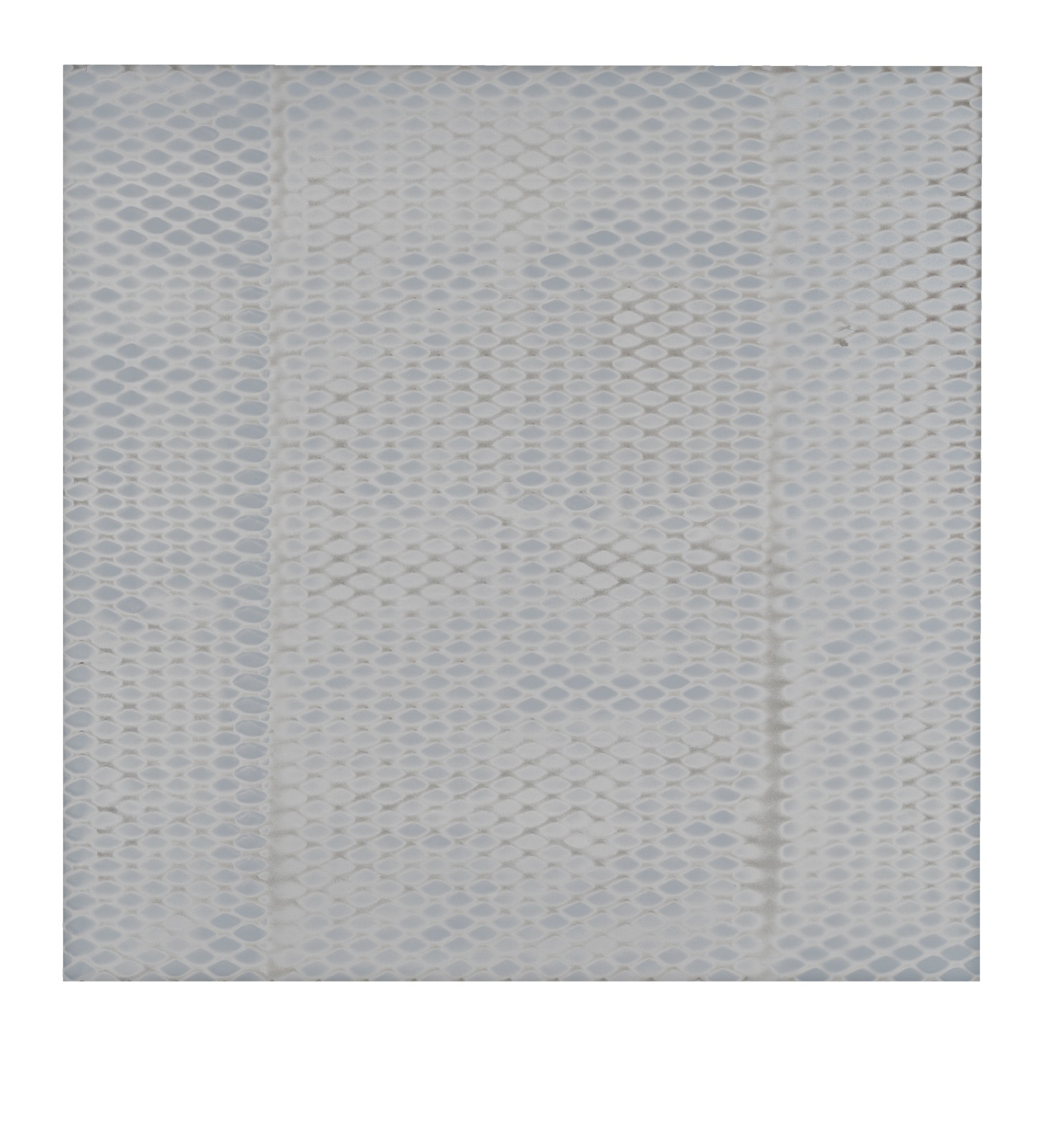 "STAIN : 55°35'54.5""N 13°01'54.9""E, 2016, spraypaint on aluminium, 81,3 x 81,3 cm"