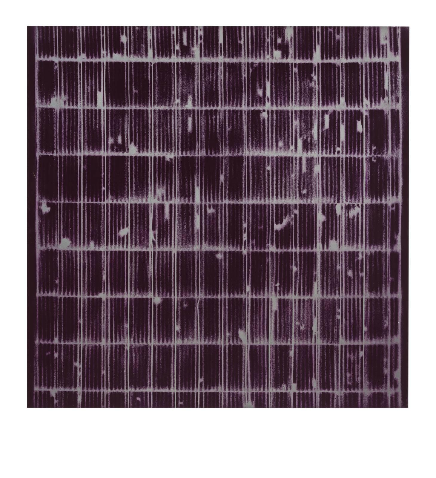 "STAIN : 55°42'16.3""N 13°11'58.8""E, 2016, spraypaint on aluminium, 81,3 x 81,3 cm"