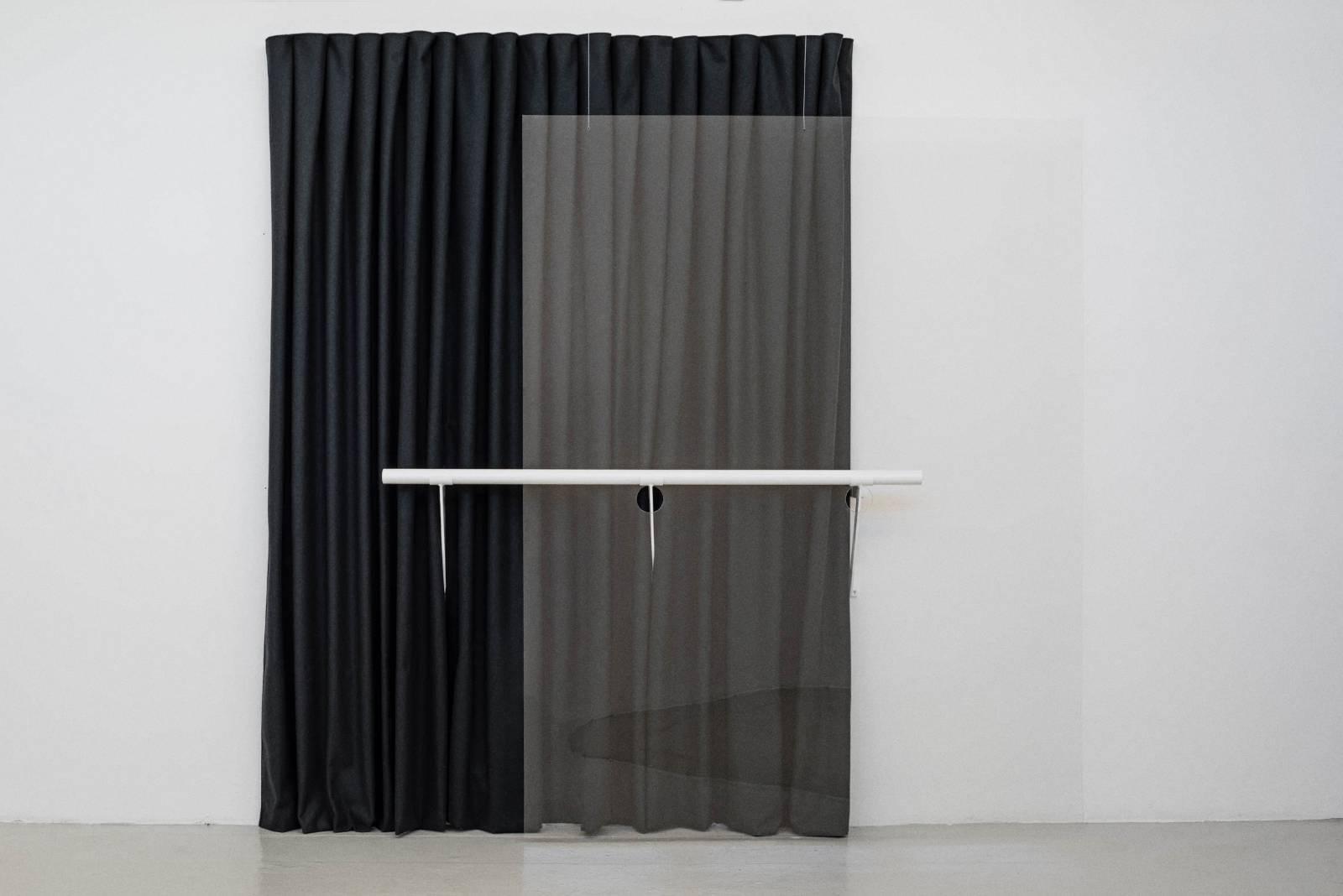 Composition, 2015, fabric, plexiglass, corian