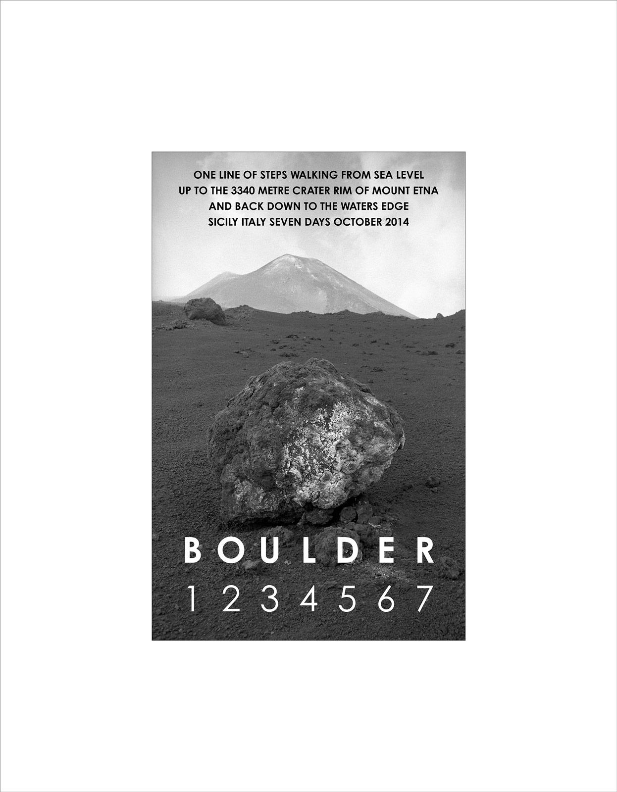 Boulder Etna Sicily 2014, giclée print, 60 x 47 cm, ed 50
