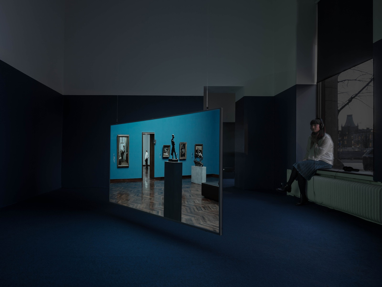 Waves, 2014-15, HD video with sound, 19 minutes 23 seconds. Installation view, For Every Word Has Its Own Shadow, Galleri Riis, Stockholm, 2015