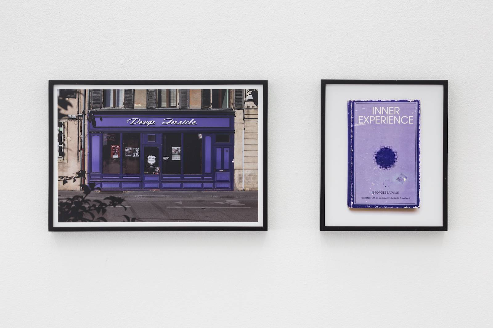 Deep Inside Inner Experience, 2009, photograph diptych in artist's frames, 44.45 x 30.48 cm and 25.4 x 30.48, ed. 5