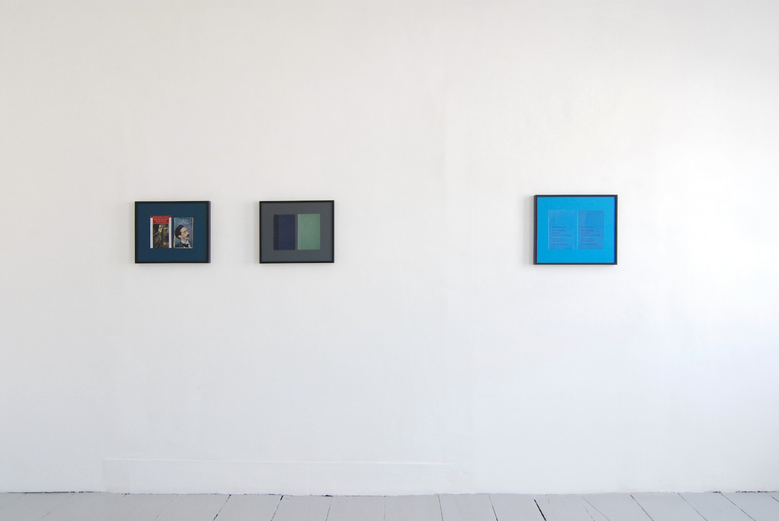 Installation view, Books (the series is informally referred to as Books and each photograph has its own distinct title. See captions), 2006, digital c-print in artist's frame, dimensions variable for each work, edition of 3