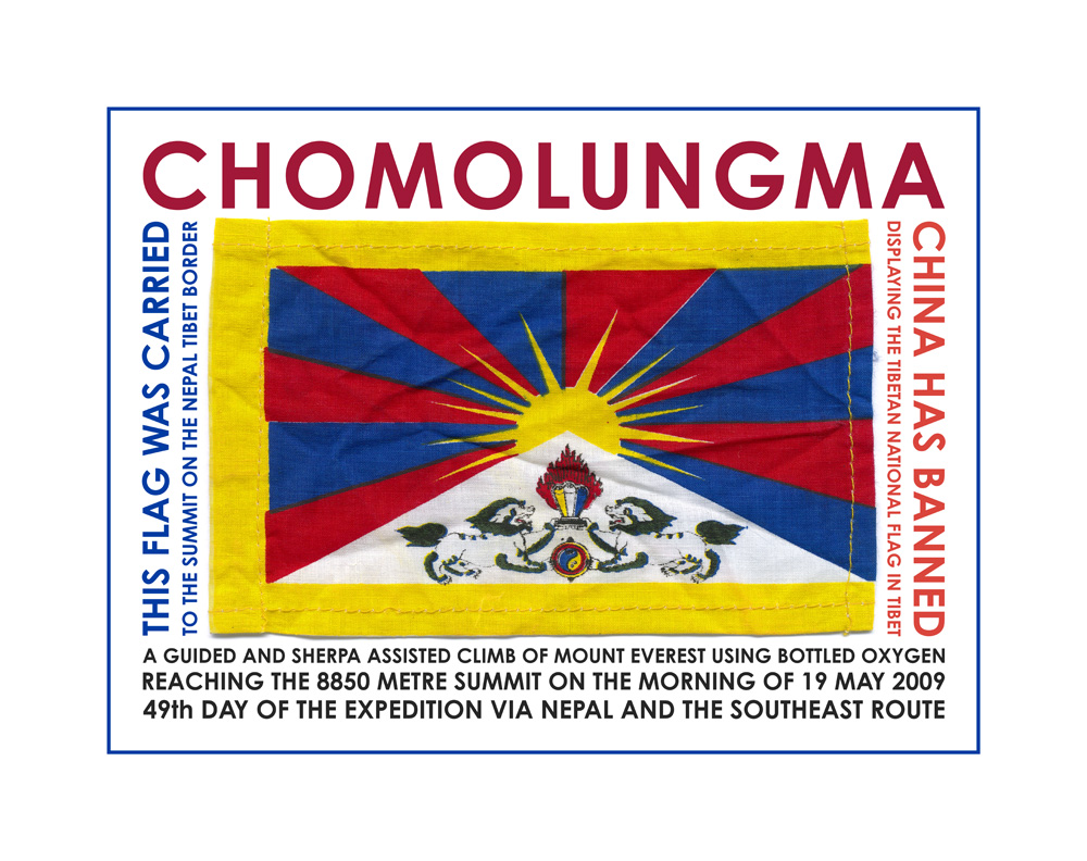 Chomolungma, The Tibetan National Flag, 2009, giclée print, 48,5 x 61 cm