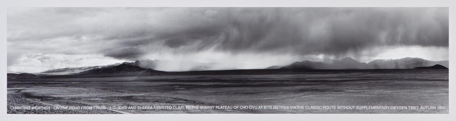 Changing Weather, Tibet Autumn 2000, iris print, 33 x 124,5 cm