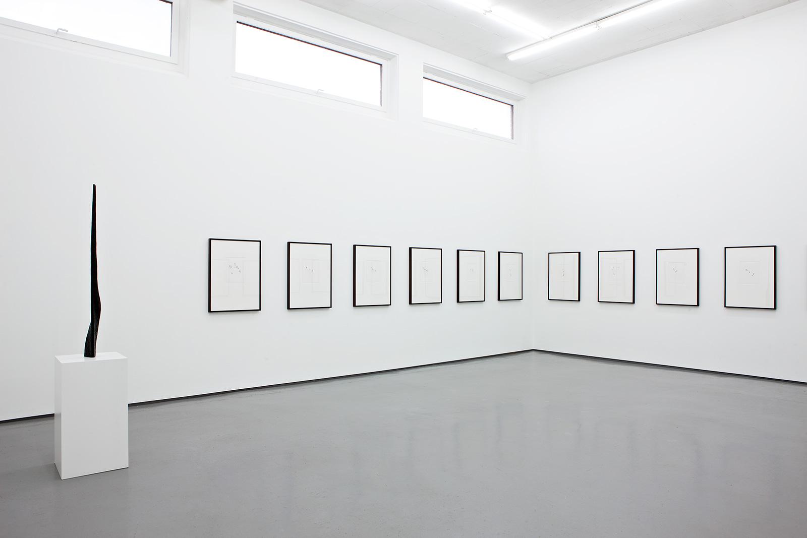 Installation view Jan Groth, New Drawings, Galleri Riis, Oslo, 2012