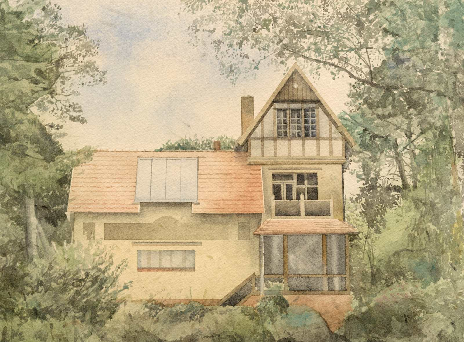 From the series Back to Nature in Germany (Fidushaus Woltersdorf), 2015-2016, watercolour on paper, 23,6 x 31,9 cm