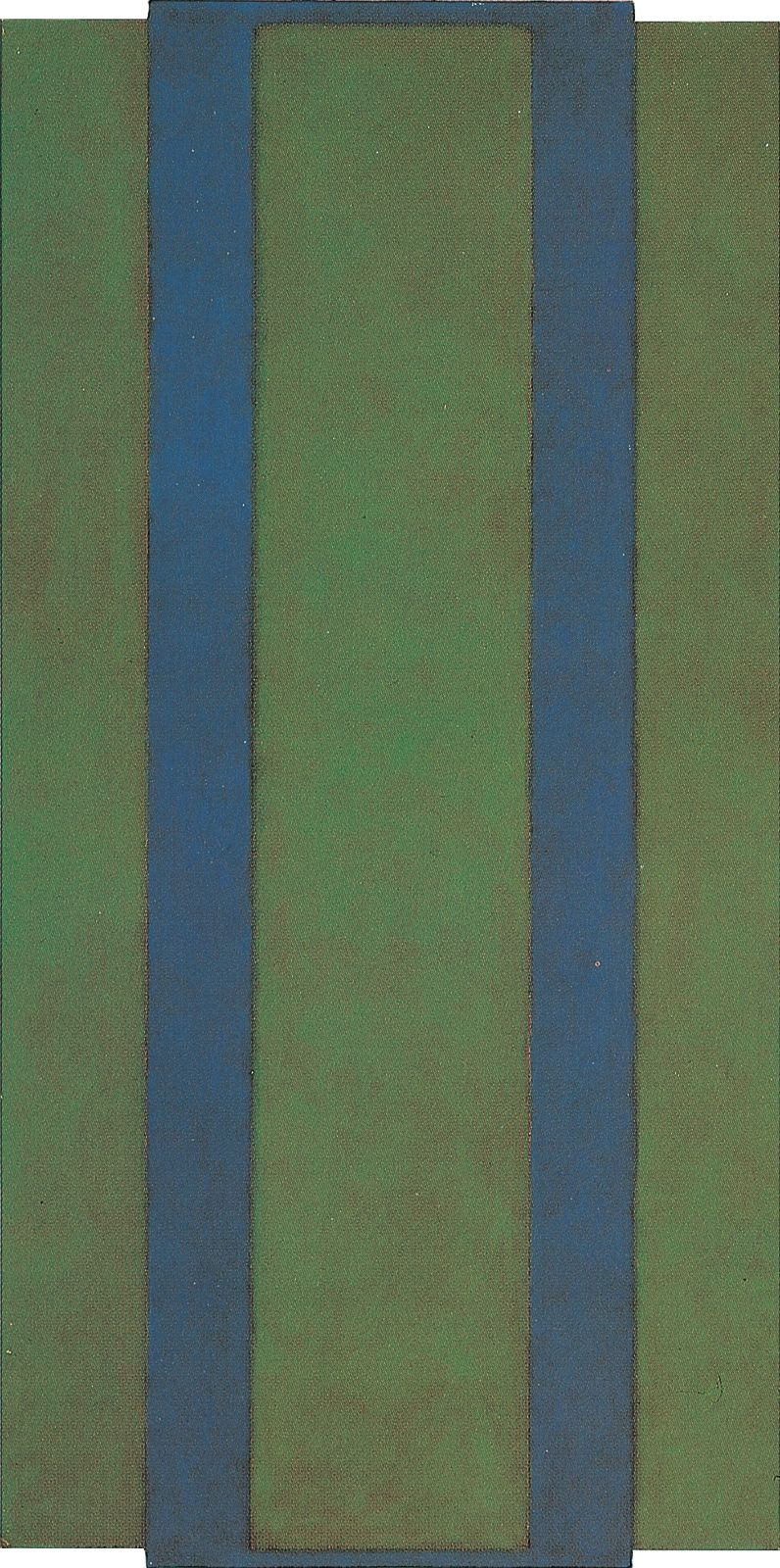 Untitled (Green-Blue), 1982, acrylic on canvas on panel, 150 x 75 cm